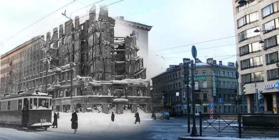 Bildmontage Leningrad - S:t Petersburg