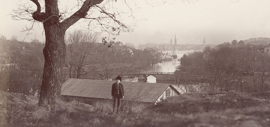 Vy frn Reimersholme mot Stockholm. Omkring 1900. Foto: Carl Curman.