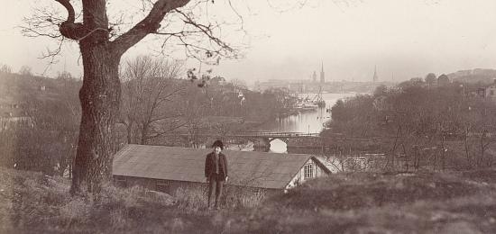 Vy fr�n Reimersholme mot Stockholm. Omkring 1900. Foto: Carl Curman.