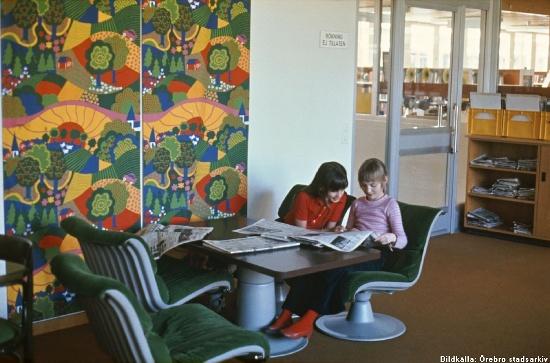 Brickebackens skola. 1970-tal. Bildkälla: Örebro stadsarkiv/okänd fotograf.